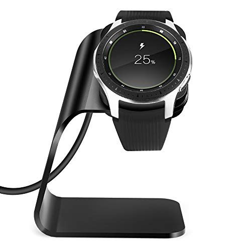 NANW Charger Compatible with Samsung Galaxy Watch 42mm 46mm Gear S3, Replacement Charging Cradle Dock Station Adapter Holder Accessories with 4.2ft USB Charging Cable Compatible with Galaxy Smartwatch