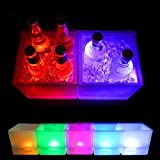 3.5L LED Ice Bucket Glowing Drinks Cooler Buckets Champagne Wine Drinks Beer Ice Cooler For Bars Nightclubs KTV Pub Party