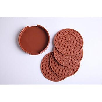 Amazon Com Pvc Coasters Pvc Coaster For Drink Set Of 4