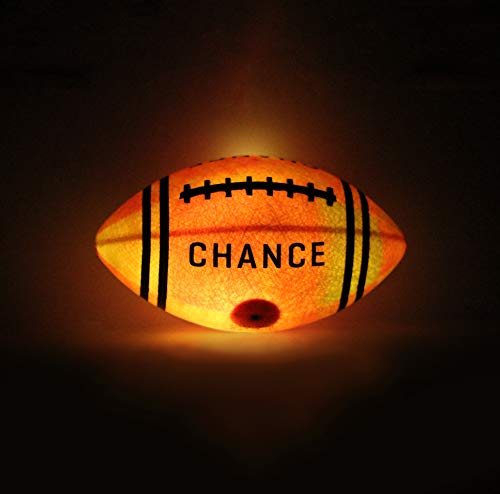 Chance Light Up Football : Glow in The Dark LED Ball (Size 6, 7 Kids & Youth Football, 9 Official NFL Football) Best for Boys & Girls, UCF, NCAA College Football, Flag Football, toss on The Street