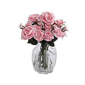 Fanxieast Artificial Flowers Tulip/Gerbera/Calla Lily Bouquet Luxury Artificial Plant for Home Decor, Wedding,Garden,Patio Decoration 8