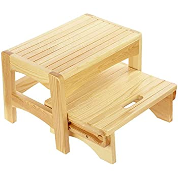 Amazon.com: Wooden Step Stool Eco - Very Study, Perfect ...