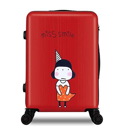 ファッショントロリーケースユニバーサルホイール漫画スーツケースかわいいプリントギフトスーツケース24インチ B07MMLSQ6G