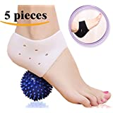 DR JK- Comprehensive Plantar Fasciitis Kit- Instant Foot Pain Relief: 5 Pcs Plantar Fasciitis Sleeve, Massage Ball, Foot Arch Support, Foot massager for Metatarsal Pain, Heel Pads, Ankle Brace