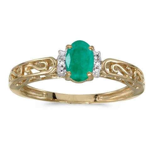 Diamond 10kt Yellow Accent Ring - 7