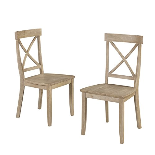 Classic White Washed X Back Dining Chairs by Home Styles (Chairs Back White Cross)