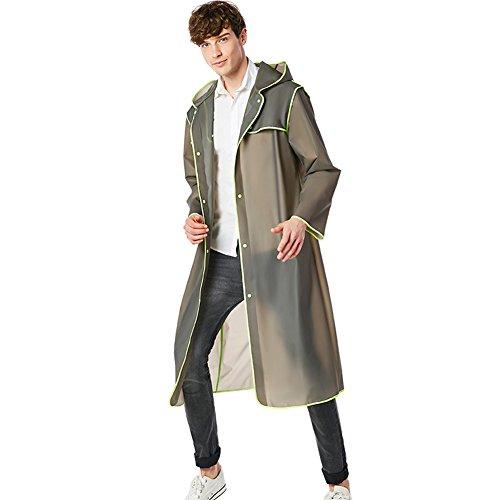 Outdoor peak ladies mens waterproof rain jacket windbreaker rainwear fishing sport (gray, XL 165-175CM 60-75 KG)