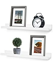Greenco Wall Mounted Photo Ledge Floating Shelves