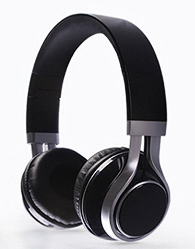 YouthCamp EF-E6 Adjustable Headband Headphone. Headset with Extremely Soft Ear Pad, Noise Cancelling Earphones high quality stereo sound for Music Equipment Black