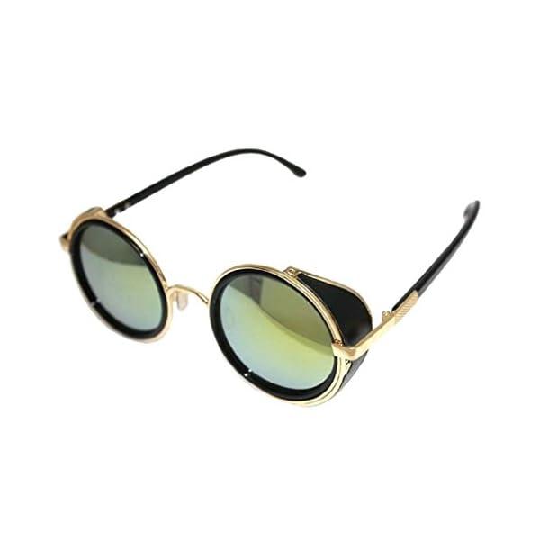 73460135e2e KESEE Round Retro Polaroid Sunglasses Driving Polarized Glasses Men  Steampunk Retro Style 50s Glasses