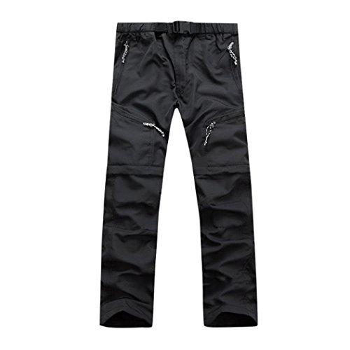 Leather Maxi Clutch - Men Pants Daoroka Men's Summer Detachable Waterproof Casual Quick Dry Outdoor Comfy 2018 Fashion Sport Sweatpants Trousers (XL, Black)