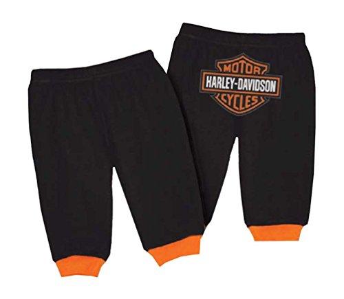 HARLEY-DAVIDSON Baby Boys' Interlock Bar & Shield Pants, Black 4050601 (3/6M) (Best Infant Clothing Websites)