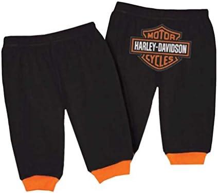 HARLEY-DAVIDSON BABY BOYS' INTERLOCK BAR & SHIELD LOGO PANTS, BLACK 4050601