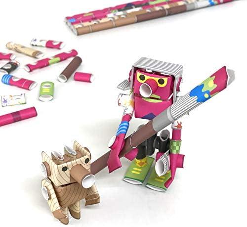 パイプロイド(PIPEROID) アンディ&ピノ - 小学生 から 大人まで 楽しめる 紙工作 クラフトキット - 折り紙 好きの 男の子や 女の子にも