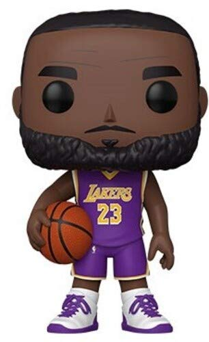 Funko- Pop Lakers-10 NBA 10 Lebron James(Purple Jersey) Figura Coleccionable, Multicolor (52359)