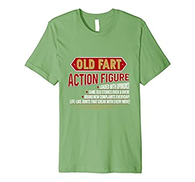 Old Fart Life Sized Action Figure Funny Birthday Tee Shirt