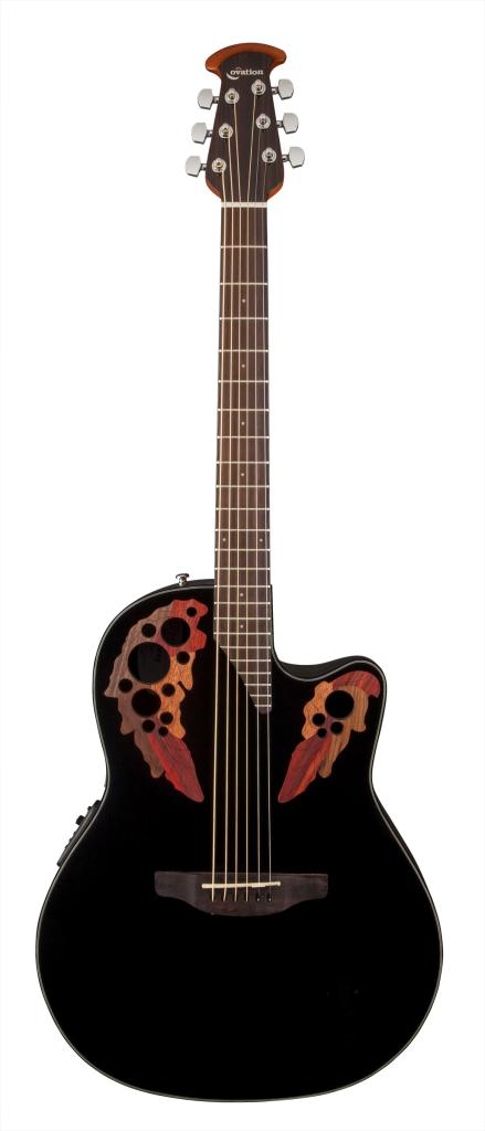 Amazon Com Ovation Ce44 5 Acoustic Electric Guitar Black