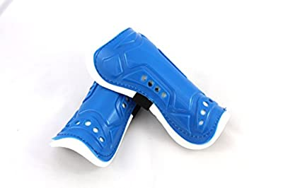 Qornerstone Children's Protective Shin Guards - Durable, Lightweight, and Breathable Padding - Great for Boys and Girls - Adjustable Size - Assorted Colors - Ages 4 and Up - By