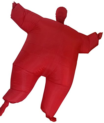 [Green Man Factory Child Inflatable Body Suit - Large, Red] (Blow Up Head Costumes)