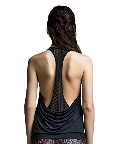 Womens Tank Activewear Mesh Workout Sports Racerback Cute Tops