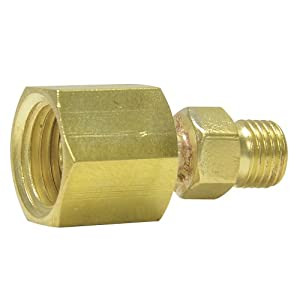 """Uniweld F59R Brass Welding Handle Adaptor """"A"""" to """"B"""" from """"B"""" Connection RH to """"A"""" Hose Nut RH"""
