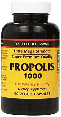 Propolis-Raw Unprocessed 1000mg Y.S. Organic Bee Farms 90...