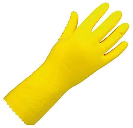 Surf Rubber Hand Gloves Yellow Pack of 3 Pair