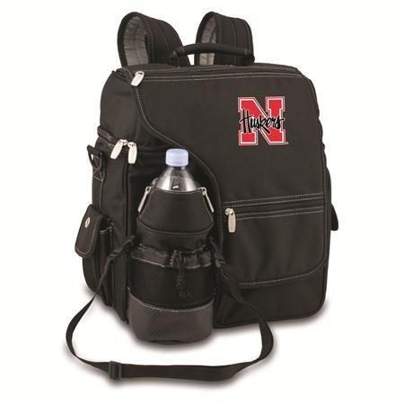 Picnic Time 641-00-175-402-0 University of Nebraska Embroidered Turismo Tote Bag, Black