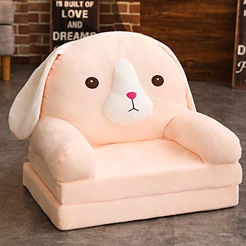 (WAYERTY Cartoon Kid's Sofa, Children's Armchair,Children Sofa Girl and boy Birthday Gift Toy Lazy Upholstered Cute Baby Small Sofa Seat Kid Chair Washable-Pink 50x40x45cm(20x16x18inch))