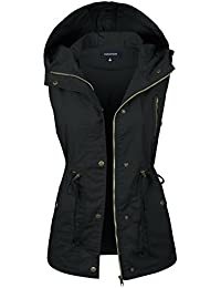 Women's Anorak Military Utility Jacket Vest w/Drawstring [S-3XL]