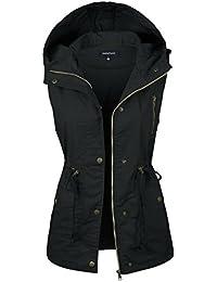 Womens Anorak Military Utility Jacket Vest w/Drawstring [S-3XL]