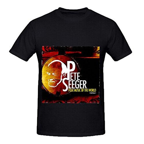 Pete Seeger Folk Music Of The World Soul Men O Neck Cotton Shirt Black (Monster High Girl Names)