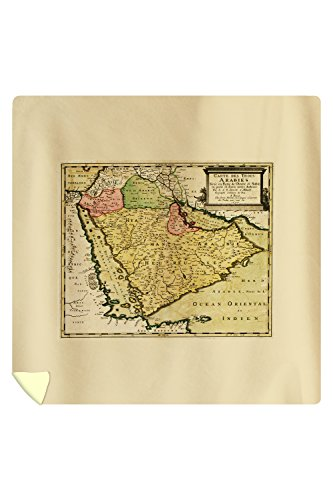 Arabian Peninsula of the Middle East - Panoramic Map (88x88 Queen Microfiber Duvet Cover) by Lantern Press