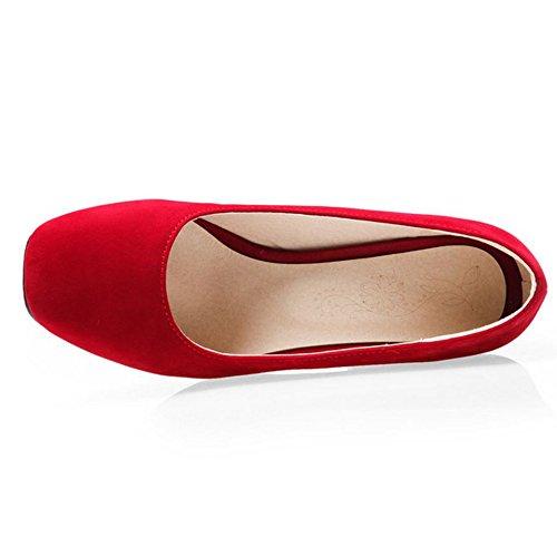 Tacon Cordones Mujer Zanpa Basic Zapatos Sin Ancho Red 7YtBwxf