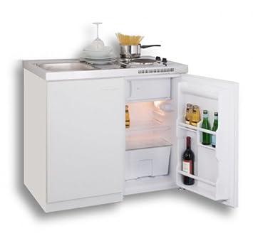 Galdem LINDSEY Pantryküche Kitchenette 100 cm White with Mini ...   {Pantryküche design 44}
