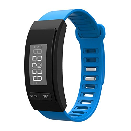 Mini Stepper Calories (Sinfu 1PC Watch Bracelet Pedometer Calorie Counter Digital LCD Walk Distance (Blue))