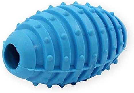 Pet Nova TPR Balón de Rugby con cascabeles para perros – Azul ...
