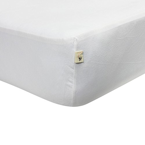 Organic Baby Sheets - Burt's Bees Baby - Fitted Crib Sheet, Solid Color, 100% Organic Cotton Crib Sheet for Standard Crib and Toddler Mattresses (Cloud White)