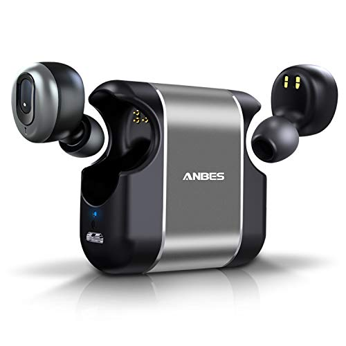 ANBES Wireless Earbuds Upgraded Bluetooth 5.0 3D Stereo Deep Bass Sound Headphones 15H Playtime Noise Cancelling in-Ear Headset with Built-in Microphone Hands-Free Calls