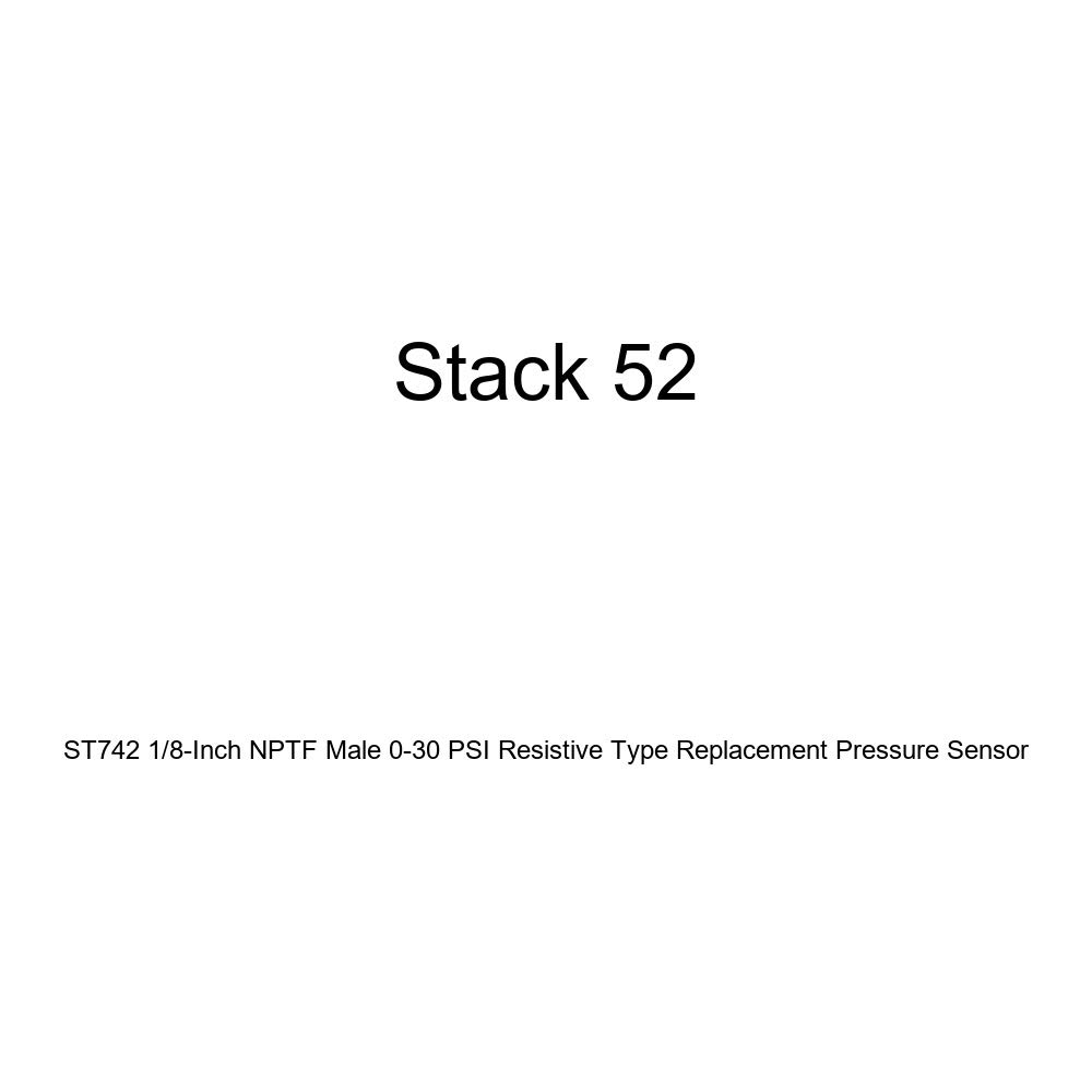 STACK ST742K 1//8 NPTF Male 0-30 psi Lead Resistive Type Pressure Sensor for ST700 Integrated Race Dash