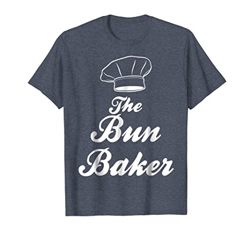 Baker Baby T-shirt - Mens Proudly display your role in the pregnancy and baby. Small Heather Blue