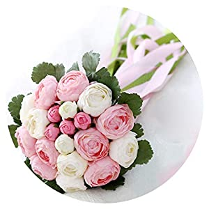 Artificial Bridesmaid Wedding Bouquets Pink Beach Wedding Flowers Bridal Bouquets Bride Flowers Bouquet Fleur Mariage 116