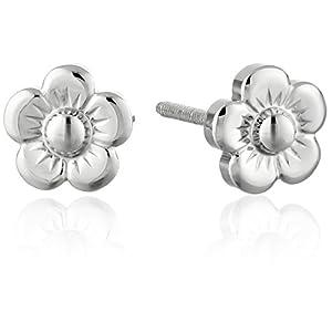 Children's Sterling Silver Flower Stud Earrings