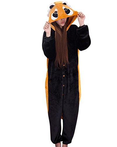 Molly Unisex Adulto Kigurumi Cosplay Costume Animale Pigiama Procione Lavatore XL
