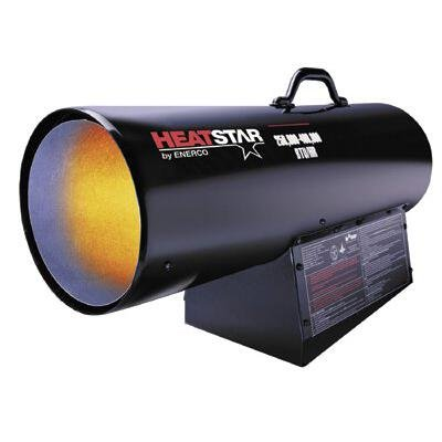 Heatstar By Enerco F172425 Forced Air Variable Propane Heater with Thermostat with 20' Hose HS400FAVT, 400K
