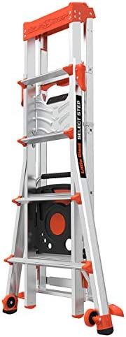 Little Giant Ladders Stepladder Select Step Type 1AA 15130-001 Fiberglass 5-8 foot 375 lbs weight rating,