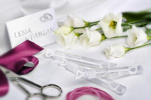 7b9584f17405 Louisiana Juego de 48 botecitos para pompas de jabón, para regalo para  invitados en bodas, color blanco