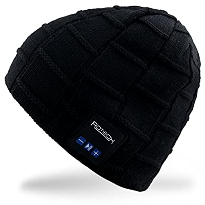 Mydeal Winter Bluetooth Beanie Hat Warm Soft Cap with Wireless Headphones Headsets Earphones Stereo Speaker Mic Hands Free for Outdoor Sport,Compatible with Iphone Android Cell Phones,Christmas Gifts