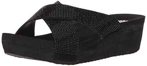 Crystal Maxima (Yellow Box Women's Maxima Sandal, Black, 8 Medium US)
