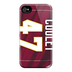 AaronBlanchette Iphone 4/4s Bumper Cell-phone Hard Cover Unique Design Attractive Washington Redskins Series [qux248RJre]